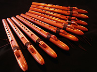 A minor flutes for Folsom Prison, crafted from Eastern red cedar.