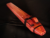 Low C drone, crafted from Eastern red cedar and ebony.
